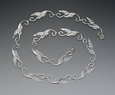 Deco Leaf Necklace by Ellen Vontillius (Silver Necklace)