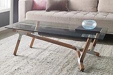 Maui by Peter Harrison (Wood & Aluminum Coffee Table)