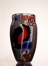Frosted Mokume by James Friedberg (Art Glass Vase)