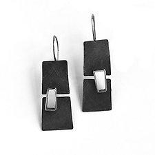 Split Level Earrings by Jane Pellicciotto (Silver Earrings)