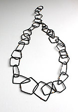 Cosmos Necklace #22 by Jennifer Bauser (Gold & Silver Necklace)