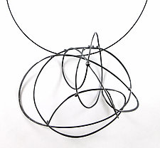 Large Scribble Necklace by Melissa Finelli (Silver Necklace)