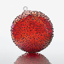 Cherry Fizz by Paul Lockwood (Art Glass Ornament)