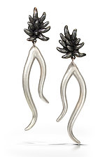 Extra Large Plume Arabesque Drop Earrings by Shana Kroiz (Gold & Silver Earrings)