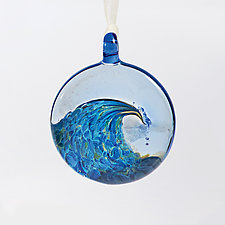 Catch a Wave by Billy Mayer (Art Glass Ornament)
