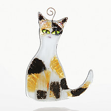 Calico by Sharon McNamara and Paul Palango (Art Glass Ornament)