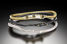 1/3/5 Bracelet Set by Christine Mackellar (Silver, Gold and Stone Bracelets)