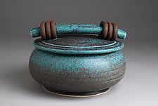 Turquoise Casserole by Jan Schachter (Ceramic Casserole)