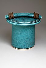Turquoise Storage Jar by Jan Schachter (Ceramic Jar)