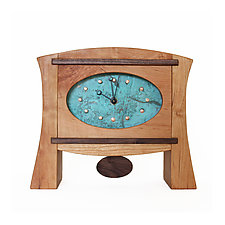 Elegance Reserve Mantel Clock by Desmond Suarez (Wood Clock)