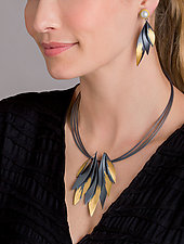 Golden Wings by Judith Neugebauer (Gold & Silver Necklace)