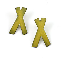 X Studs by Kat Cole (Enameled Earrings)