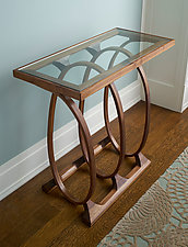 Coil Console by Derek Hennigar (Wood Console Table)