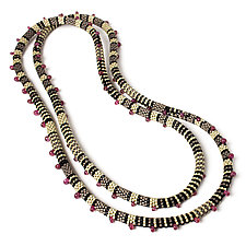 Cosmopolitan Sapphire and Bead Necklace by Julie Long Gallegos (Beaded Necklace)