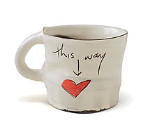 This Way to Love Mug by Noelle VanHendrick and Eric Hendrick (Ceramic Mug)