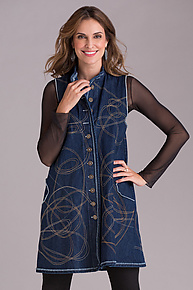 Atlas Vest by Cynthia Ashby  (Denim Vest)