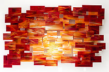 Sunset by Karo Martirosyan (Art Glass Wall Sculpture)