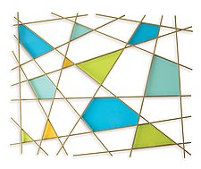 Triangulation by Karo Martirosyan (Art Glass Wall Sculpture)