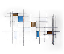 Gridded by Karo Martirosyan (Art Glass Wall Sculpture)