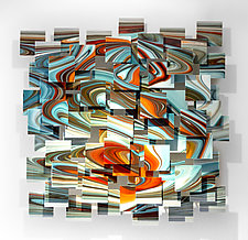 Groovy by Karo Martirosyan (Art Glass Wall Sculpture)