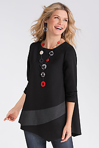 Sophisticated Swish Tunic by F.H. Clothing Company  (Knit Tunic)