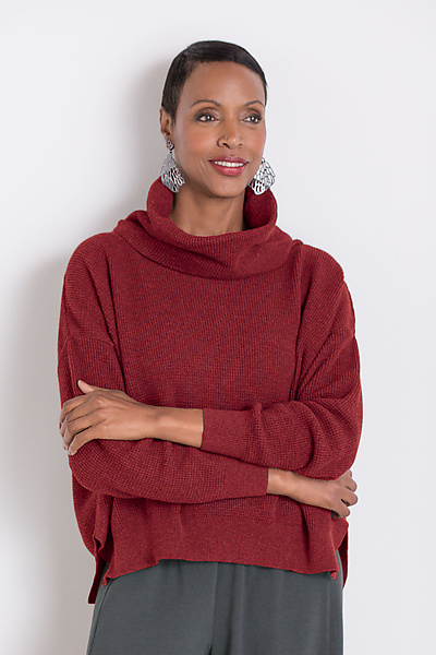 Thermal Cowl Neck Sweater
