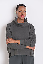 Thermal Cowl Neck Sweater by Planet   (Knit Sweater)