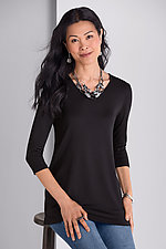 Three-Quarter Sleeve Tunic by Comfy USA  (Knit Tunic)