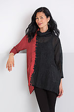 Cowl Neck Pocket Pullover by Michael Kane  (Silk Tunic)