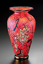 Phoenix Vase by David Lindsay (Art Glass Vase)