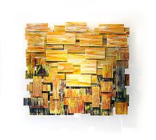 Autumn by Karo Martirosyan (Art Glass Wall Sculpture)