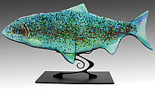 Sea Glass Fish Sculpture by Karen Ehart (Art Glass Sculpture)
