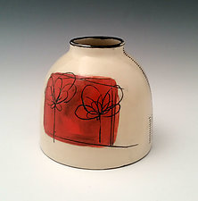 Scribble Flower Chubster Vase by Whitney Smith (Ceramic Vase)