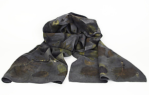 Midnight Garden Silk Charmeuse Scarf by Ayn Hanna (Silk Scarf)