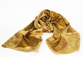 Warm Afternoon Silk Charmeuse Scarf by Ayn Hanna (Silk Scarf)