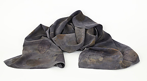 Cool Morning Stonewashed Silk Crepe de Chine Scarf by Ayn Hanna (Silk Scarf)