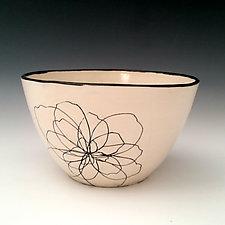 Peony Serving Bowl by Whitney Smith (Ceramic Bowl)