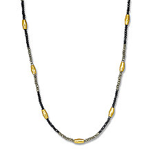 Spinel and Gold Necklace by Suzanne Q Evon (Beaded Necklace)