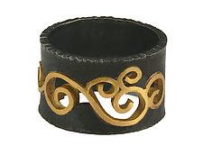 Wrought Inlay Ring by Natasha Wozniak (Silver & Gold Ring)