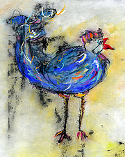 Le Coq Bleu No.1 by Roberta Ann Busard (Giclée Print)