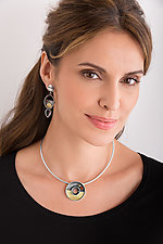 Porthole Pendant by Michele LeVett (Gold, Silver & Stone Necklace)