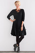 Pucker Drawstring Dress by Noblu   (Knit Dress)