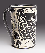 Owl Mug by Jennifer  Falter (Ceramic Mug)