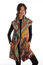 Silk Circular Vest #1 by Mieko Mintz  (Size 1 (2-12), One of a Kind Vest)