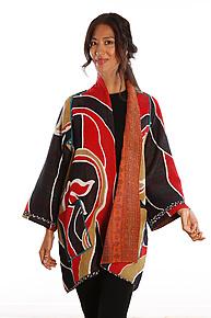 A-line Jacket #1 by Mieko Mintz  (Size 1 (2-16), One of a Kind Jacket)