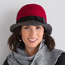 Flat Brim Hat by Tess McGuire  (Wool Hat)