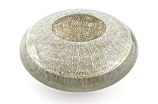 Optical Bowl With Gray Coral Murrini by Marc Carmen (Art Glass Bowl)