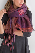 Red Flame Scarf by Anne Vincent  (Silk Shawl)