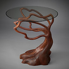 Silhouette End Table by Aaron Laux (Wood Side Table)