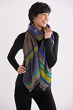 Stripes & Dots Scarf by Maliparmi  (Wool & Cotton Scarf)
